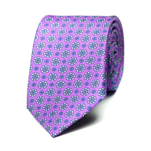 BURDÉGANO - Printed silk tie with initials - The Seëlk - 1