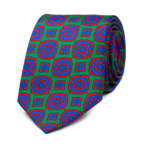 CANTABILE - Printed silk tie with initials - The Seëlk - 1