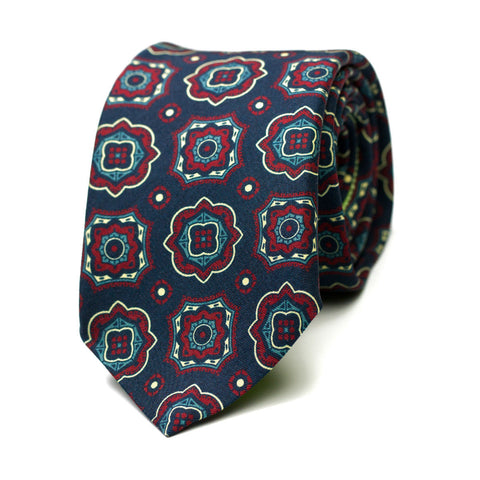 CAPORAL - Printed silk tie with initials - The Seëlk - 1