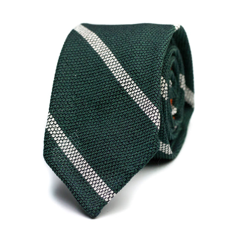 CHAUCHINA - Grenadine silk tie with initials - The Seëlk - 1