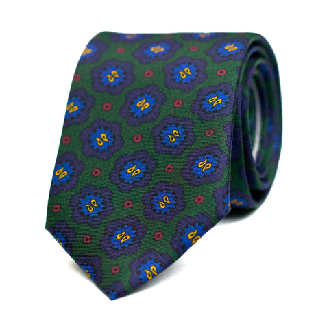 COLIFICHET- Printed silk tie with initials - The Seëlk - 1