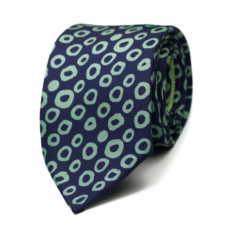 COLLINAIRE - Printed silk tie with initials - The Seëlk - 1