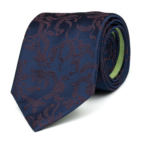 CONFLATE - Jacquard silk tie with initials - The Seëlk - 1
