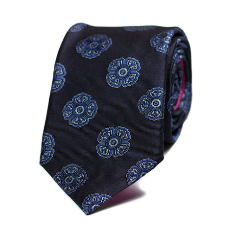 CYNOSURE - Jacquard silk tie with initials - The Seëlk - 1