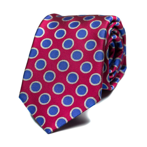 DALLIANCE - Jacquard silk tie with initials - The Seëlk - 1