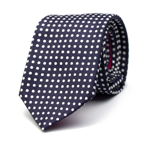 DEEP VOID - Jacquard silk tie with initials - The Seëlk - 1