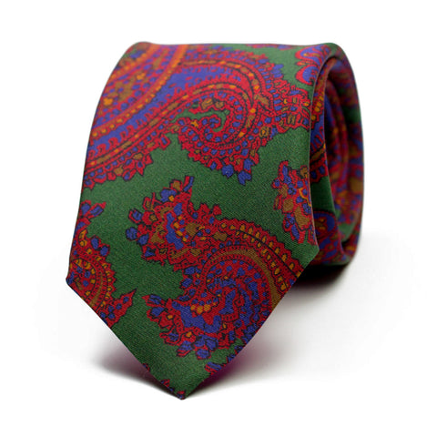 DÉHISCENCE - Printed silk tie with initials - The Seëlk - 1
