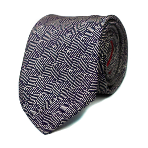 DERVICHE - Printed silk tie with initials - The Seëlk - 1