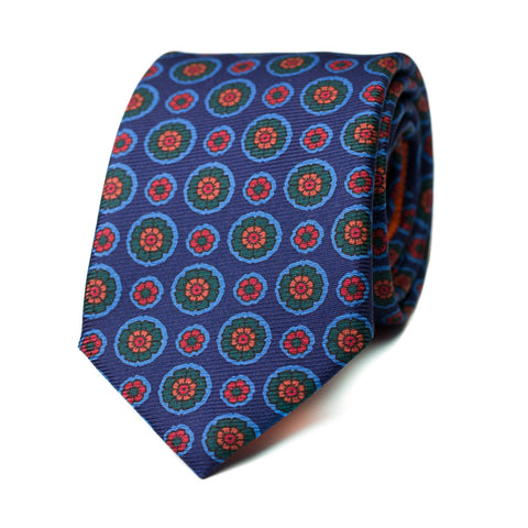 DESAZÓN - Ancient Madder silk tie with initials - The Seëlk - 1