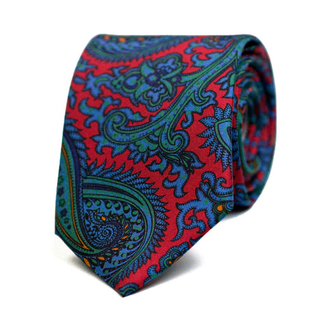 DITHYRAMBIQUE - Printed silk tie with initials - The Seëlk - 1