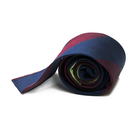 DOLAR - Grenadine silk tie with initials - The Seëlk - 1