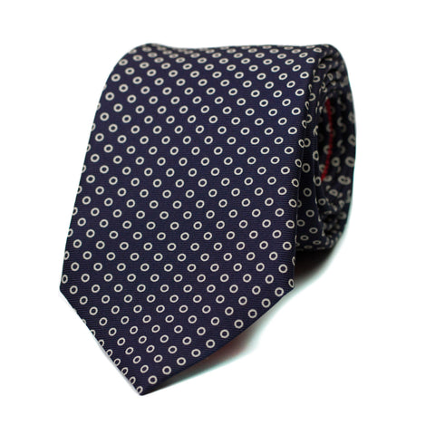 DYSTOPIE - Printed silk tie with initials - The Seëlk - 1