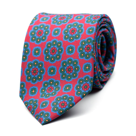 ÉPECTASE - Printed silk tie with initials - The Seëlk - 1