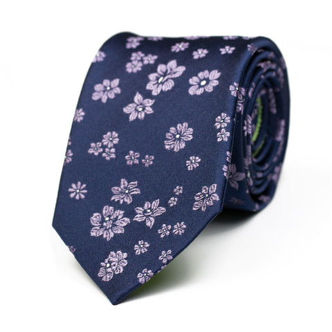 EPIPHANY - Jacquard silk tie with initials - The Seëlk - 1