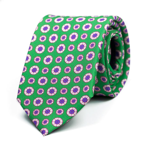 ÉPISTAXIS - Printed silk tie with initials - The Seëlk - 1