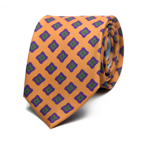 ÉPOUSTOUFLANT - Printed silk tie with initials - The Seëlk - 1