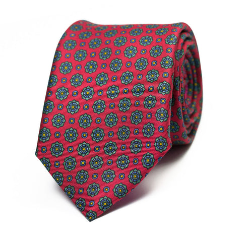 ESCABEL - Printed silk tie with initials - The Seëlk - 1