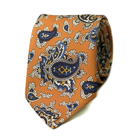 FENAISON - Printed silk tie with initials - The Seëlk - 1