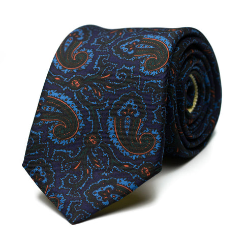 FOLLY - Ancient Madder silk tie with initials - The Seëlk - 1