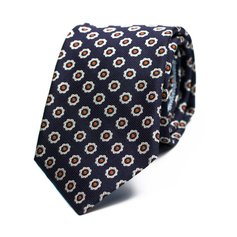 FORBEARANCE - Jacquard silk tie with initials - The Seëlk - 1