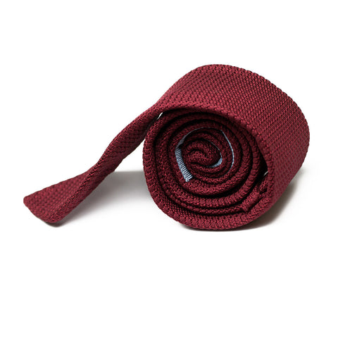 FORNES - Grenadine Garza Grossa Tie with Initials - The Seëlk - 1