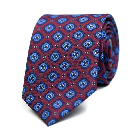 GALAPIAT - Printed silk tie with initials - The Seëlk - 1