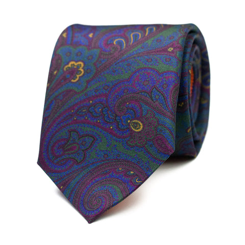GALBANA - Printed silk tie with initials - The Seëlk - 1