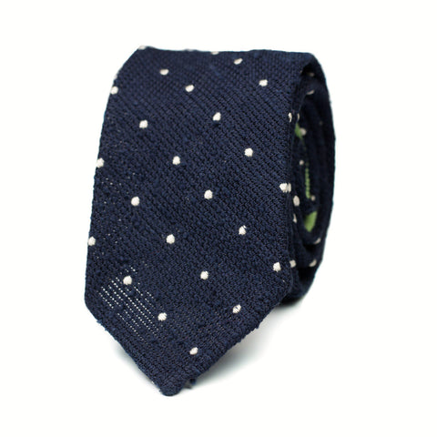 GAOMI - Shantung silk tie with initials - The Seëlk - 1