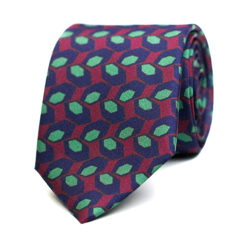 GLOSSOLALIE - Printed silk tie with initials - The Seëlk - 1