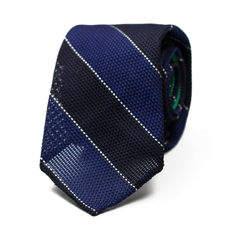 GRAENA - Grenadine silk tie with initials - The Seëlk - 1