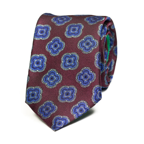 HARBINGER - Jacquard silk tie with initials - The Seëlk - 1