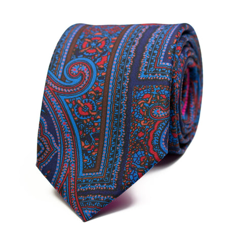 HASTÍO - Ancient Madder silk tie with initials - The Seëlk - 1