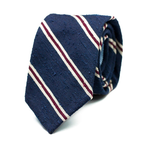 HEZE - Shantung silk tie with initials - The Seëlk - 1