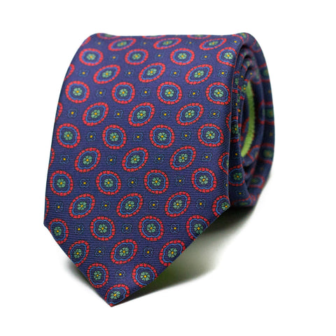 HOLGANZA - Printed silk tie with initials - The Seëlk - 1
