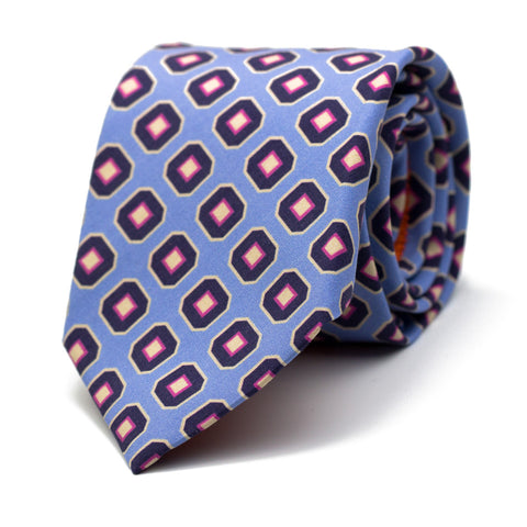 HORION - Printed silk tie with initials - The Seëlk - 1
