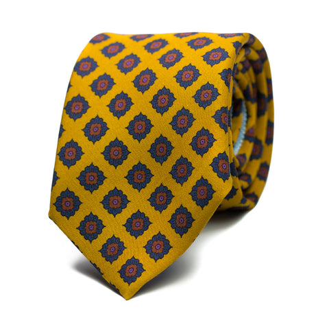 HORNACINA - Printed silk tie with initials - The Seëlk - 1