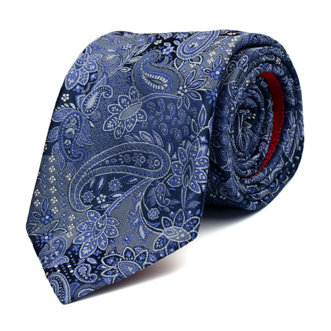 IMBROGLIO - Jacquard silk tie with initials - The Seëlk - 1