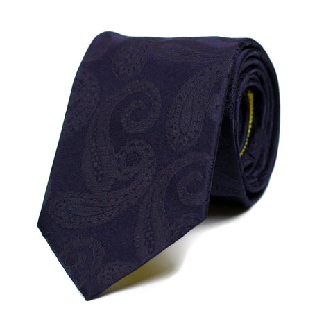 INEFFABLE - Jacquard silk tie with initials - The Seëlk - 1