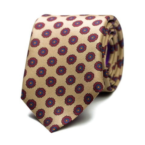 INELUCTABLE - Printed silk tie with initials - The Seëlk - 1