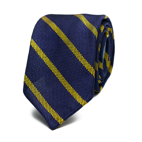ITRABO - Grenadine silk tie with initials - The Seëlk - 1