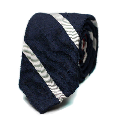 WEIFANG - Shantung silk tie with initials - The Seëlk - 1