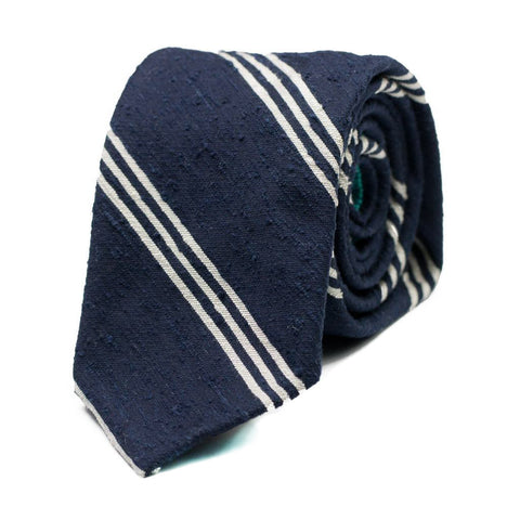 JINAN - Shantung silk tie with initials - The Seëlk - 1