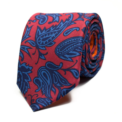 KORO - Ancient Madder silk tie with initials - The Seëlk - 1