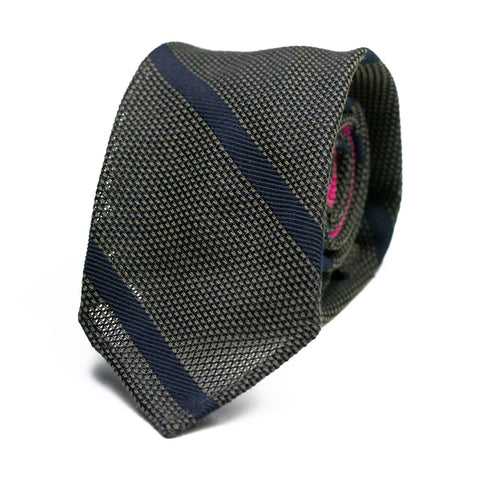 LAMALAHÁ - Grenadine silk tie with initials - The Seëlk - 1