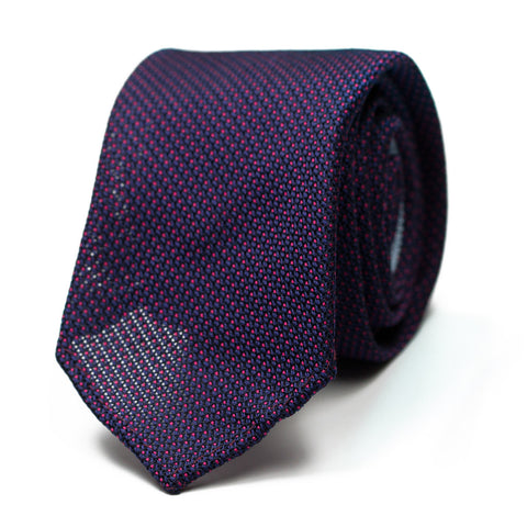 LAMAMOLA - Grenadine silk tie with initials - The Seëlk