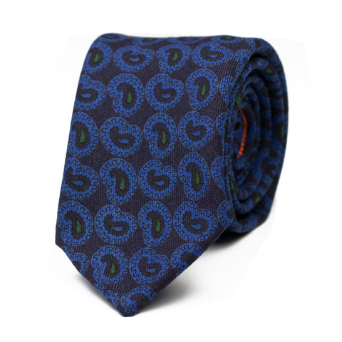 LAMELLIBRANCHIO - Wool tie with initials - The Seëlk - 1
