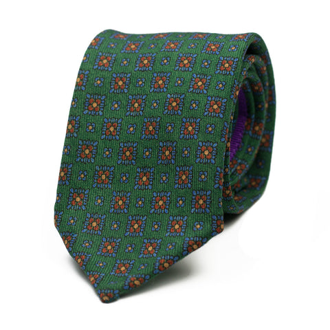 LAPALISSIANO - Wool tie with initials - The Seëlk - 1