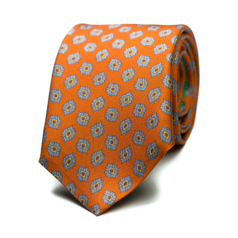 LAZARETO - Printed silk tie with initials - The Seëlk - 1