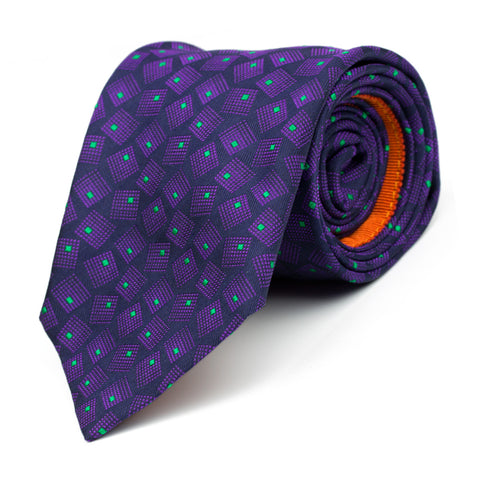LILT - Jacquard silk tie with initials - The Seëlk - 1