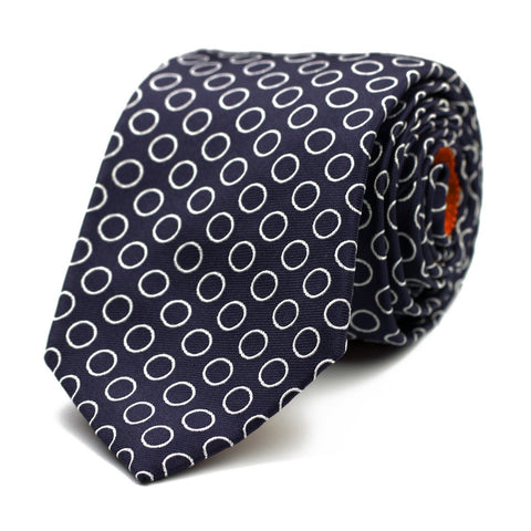 LIQUID GAS - Jacquard silk tie with initials - The Seëlk - 1
